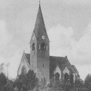 Kirche, Ansicht von Südwesten, um 1925