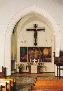 Kirche, Blick zum Altar, nach 1962, bzw. nach 1980