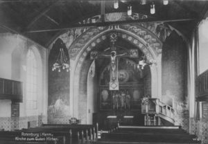 Kirche, Blick zum Altar, um 1933