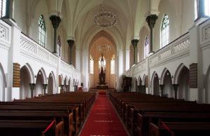 Innenraum, Blick zum Altar, 2020, Foto: Wolfram Kändler, CC BY-SA 3.0 de