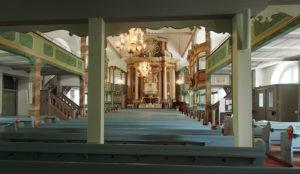 Kirche, Blick zum Altar, 2020, Foto: Wolfram Kändler, CC BY-SA 3.0 de