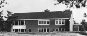 Gemeindehaus mit Kirchsaal, Außenansicht, 1968