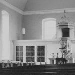 Kirche, Blick zum Altar, Foto: Ernst Witt, Hannover, April 1962