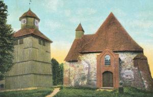 Kirche, Ansicht von Westen, 1907