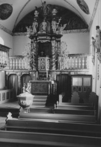 Kirche, Blick zum Altar, Foto: Ernst Witt, Hannover, 1967