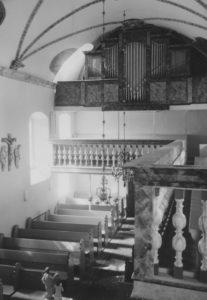 Kirche, Blick zur Orgel, Foto: Ernst Witt, Hannover, 1967
