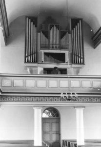 Kirche, Blick zur Orgel, 1974