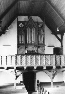 Kirche, Blick zur Orgel, vor 1967