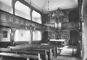 Kirche, Blick zum Altar, 1935, Bildarchiv Niedersächsisches Landesverwaltungsamt Hannover, Landeskonservator