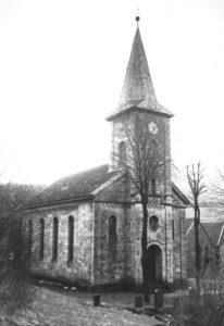 Kirche, Ansicht von Nordwesten, um 1960