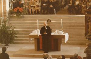 Lbf. Lohse bei der Wiedereinweihung des Münsters am 4. Dezember 1977