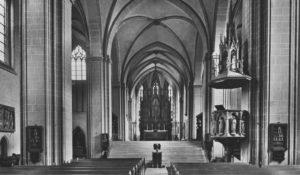 Kirche, Blick zum Altar, vor 1977