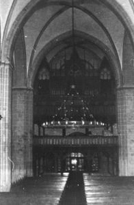Kirche, Blick zur Orgel, vor 1977 (?)