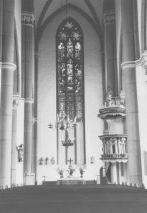 Kirche, Blick zum Altar, Foto: P. Greve, Jöllenbeck (?), um 1974