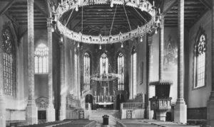 Alte Kirche, Blick zum Altar, vor 1962