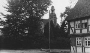 Kirche, Ansicht von Nordosten, um 1950