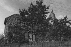 Kirche, Ansicht von Südwesten, um 1953