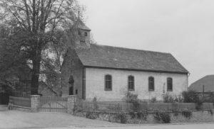 Kirche, Ansicht von Südwesten, 1959