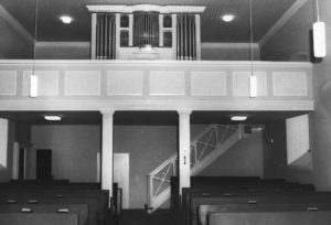 Kirche, Blick zur Orgel, nach 1966