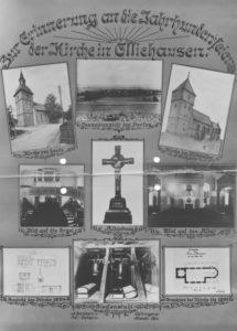 Kirche, Grundrisse, Aufrisse, Außen- und Innenansichten, nach 1930, Fotos von A. Blankhorn, Göttingen
