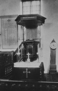 Alte Kirche, Altar und Kanzel, vor 6./7. Juni 1942