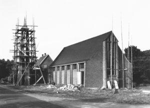 Kirche im Bau, Außenansicht, um 1954