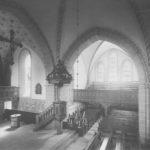 Kirche, Blick in den Chorraum und das südliche Querschiff, nach 1914, vor 1958