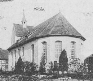 Kirche, Ansicht von Südosten, um 1900, Postkarte (Ausschnitt)
