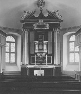 Kirche, Blick zum Altar, Foto: Ernst Witt, Hannover, 1950