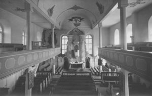 Kirche, Blick zum Altar, Foto: P. Greve, Jöllenbeck (?)