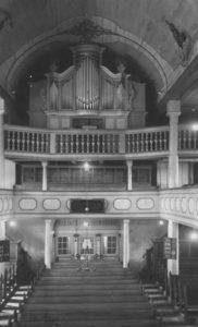 Kirche, Blick zur Orgel, 1948