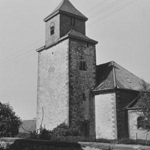 Kirche, Ansicht von Südwesten, Teilansicht, 1961
