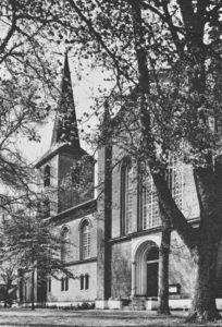 Neue Kirche, Ansicht von Südosten, Teilansicht, Prospektfoto