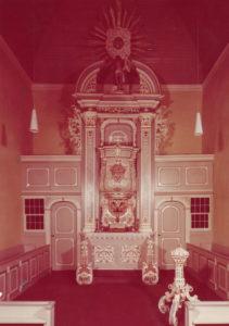 Kirche, Blick zum Altar, 1965
