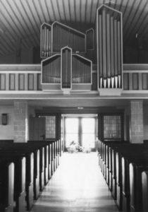 Kirche, Blick zur Orgel, nach 1959