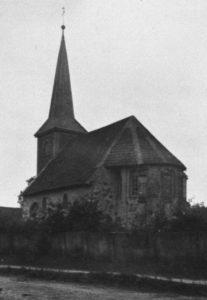 Kirche, Ansicht von Südosten, um 1931