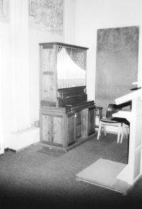 Ehemalige Orgel der Kirche in Eutzen, 1982