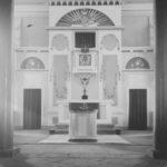 Kanzelaltar, Foto: Ernst Witt, Hannover, 1955 (nach der Renovierung)
