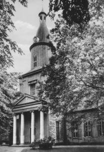 Kirche, Ansicht von Nordwesten, Teilansicht, 1964