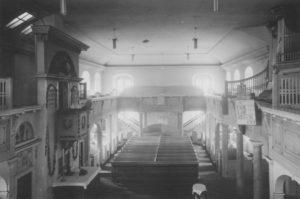 Kirche, Blick nach Westen, vor 1955