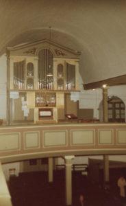 Kirche, Blick zur Orgel, vermutlich 1978