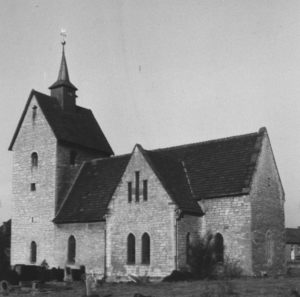 Kirche, Ansicht von Südosten, um 1957