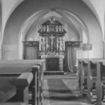 Kirche, Blick zum Altar, Foto: Ernst Witt, Hannover, 1958