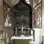 Altaraufsatz, Foto: P. Greve, Jöllenbeck, nach 1962