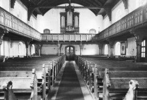 Kirche, Blick zur Orgel vor 1963