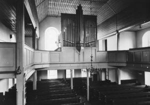 Kirche, Blick zur Orgel, vor 1971