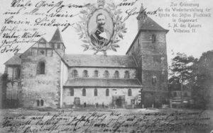 Kirche, Ansicht von Norden, um 1906, Postkarte