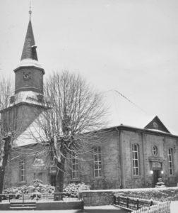 Kirche, Ansicht von Südwesten, 1988