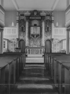 Kirche, Blick zum Altar, Foto: Ernst Witt, Hannover, 1966