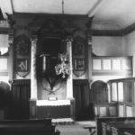 Kirche, Blick zum Altar, um 1960